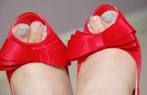 swarovski crystal nail art pedicures red vintage shoes nataya beauty manchester city centre