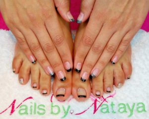 manicure pedicures black tip french manicure cnd shellac nail art nataya beauty manchester