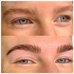 eyebrow brow lamination before after manchester nataya beauty city centre